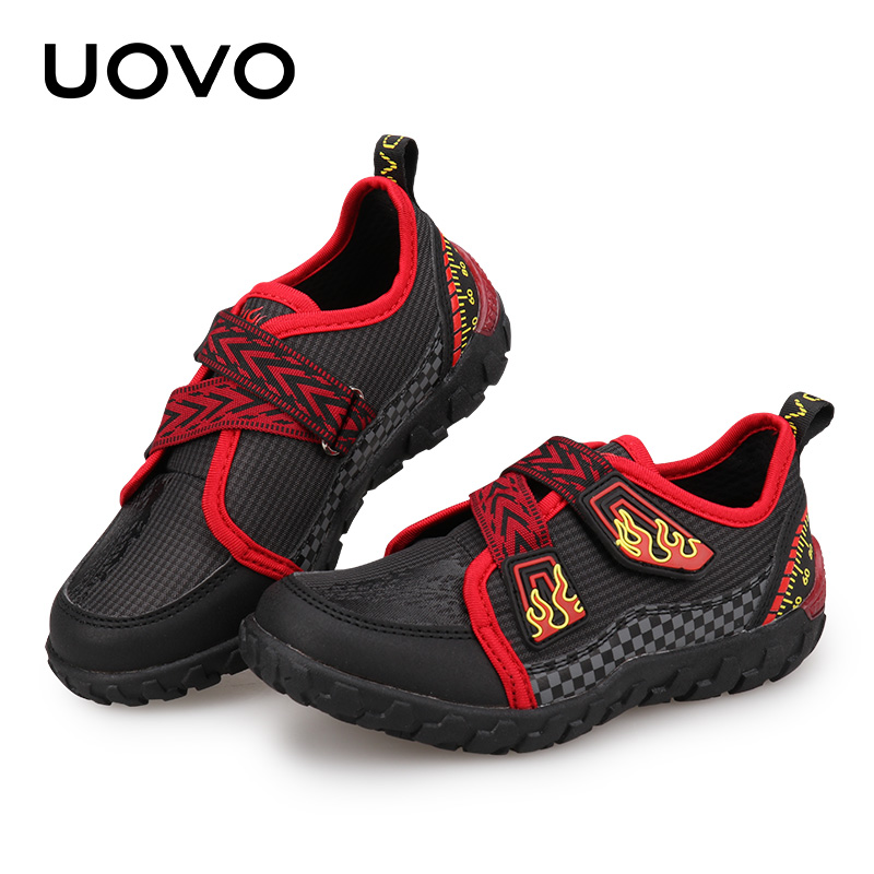 New Boys And Girls Sport Shoes UOVO 2018 Children Shoes Breathable Kids Shoes Durable Rubber Flat Casual Sneakers Eur #25-30 2017 breathable children shoes girls boys shoes new brand kids leather sneakers sport shoes fashion casual children boy sneakers