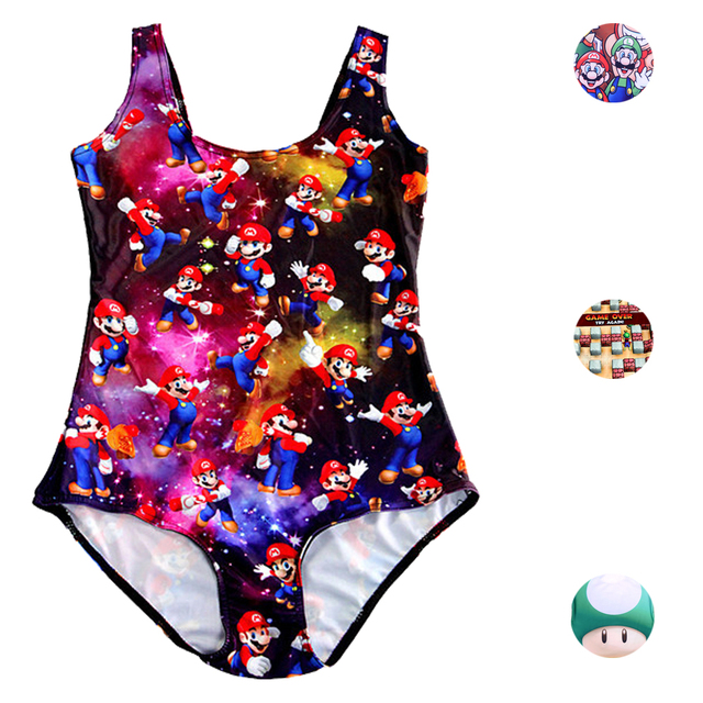 2ebdc996af Super Mario Game 3D Print One Piece Swimsuit Sexy Backless Bathing Suit  Cartoon Mario Swimming Wear Girl Beach Monokinis S-XL