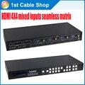 Профессиональные смешанные входы HDMI матричный 4X4 VGA/HDMI/AV вход для HDMI out бесшовные матрица
