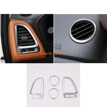 Auto Car Garnish Frame Lamp Trim ABS Chrome Front Air Condition Outlet Vent For Honda HR-V HRV Vezel 2014 2015 2016 2017 2018