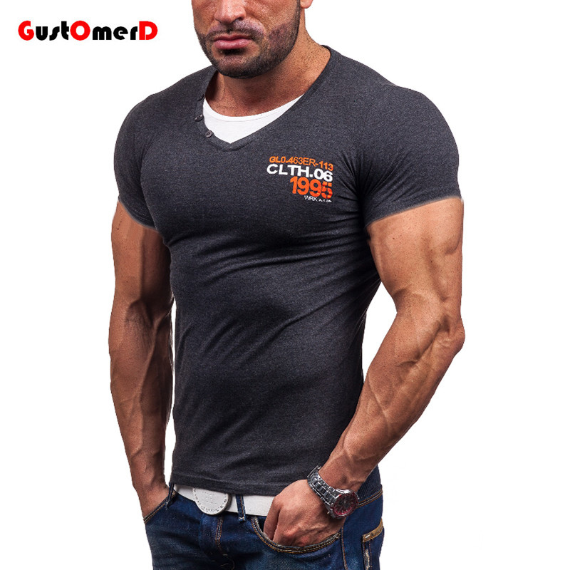 Gustomerd us size compression shirt men fashion double for Compression tee shirts for men