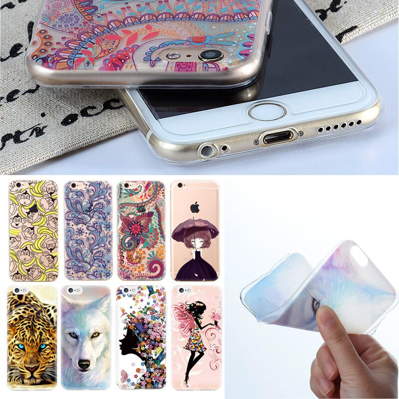 Ultra Thin Phone Case For iPhone 7 6 5 4 TPU Bags Cover For iPhone 5S
