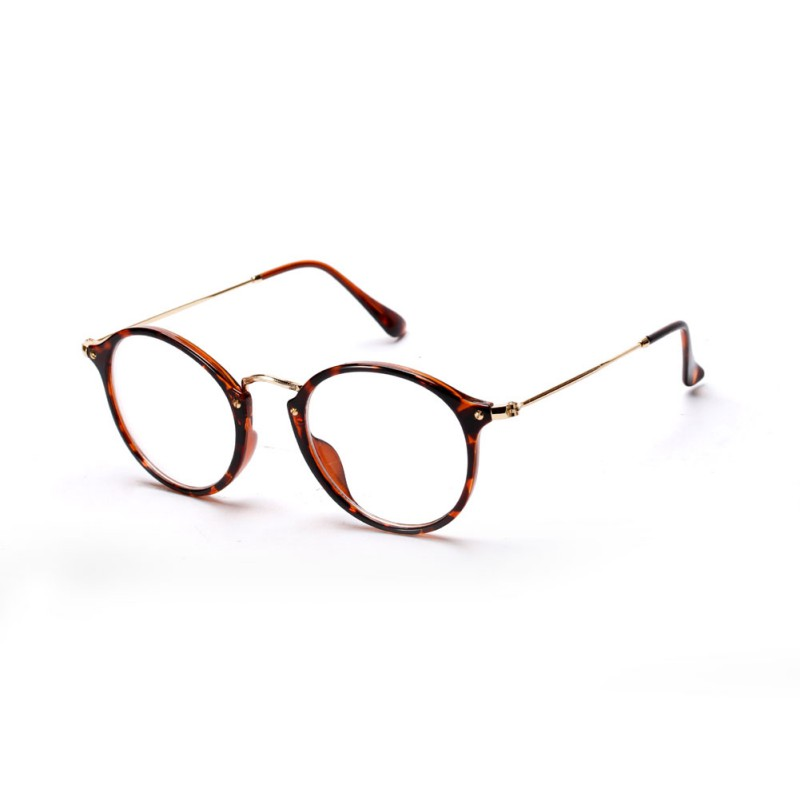 Women Men Vintage Round Eyewear Frames Retro Optical Glasses Frame ...