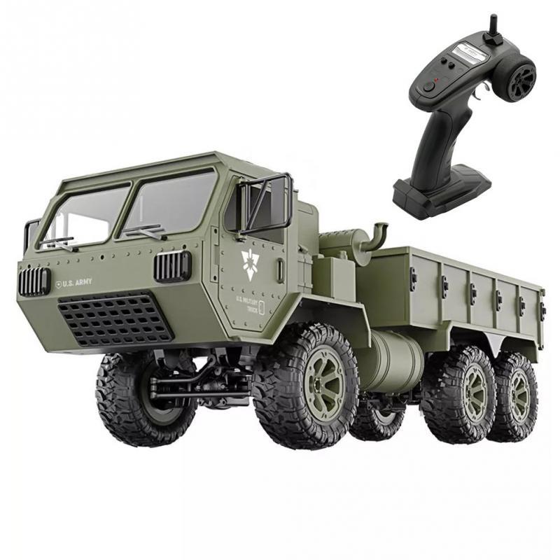 FY004A 1:16 6WD RC voitures 2.4G radiocommande RC camion Six roues motrices Simulation militaire modèle voiture garçons véhicules armée camion