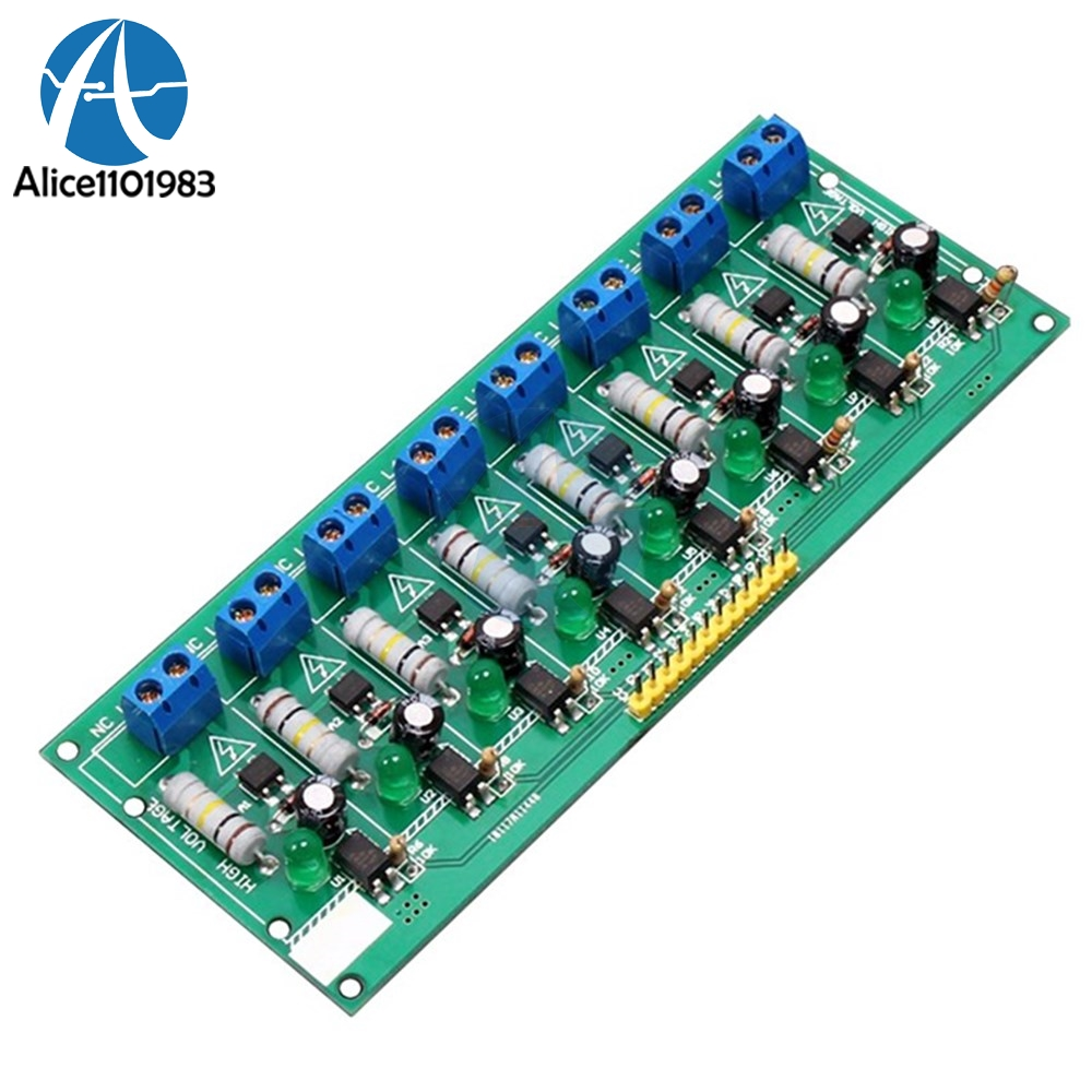 8 Ch Channel AC 220V 3V 5V 8 Channel Optocoupler Isolation Test Board Isolated Detection Tester PLC Processors Module8 Ch Channel AC 220V 3V 5V 8 Channel Optocoupler Isolation Test Board Isolated Detection Tester PLC Processors Module