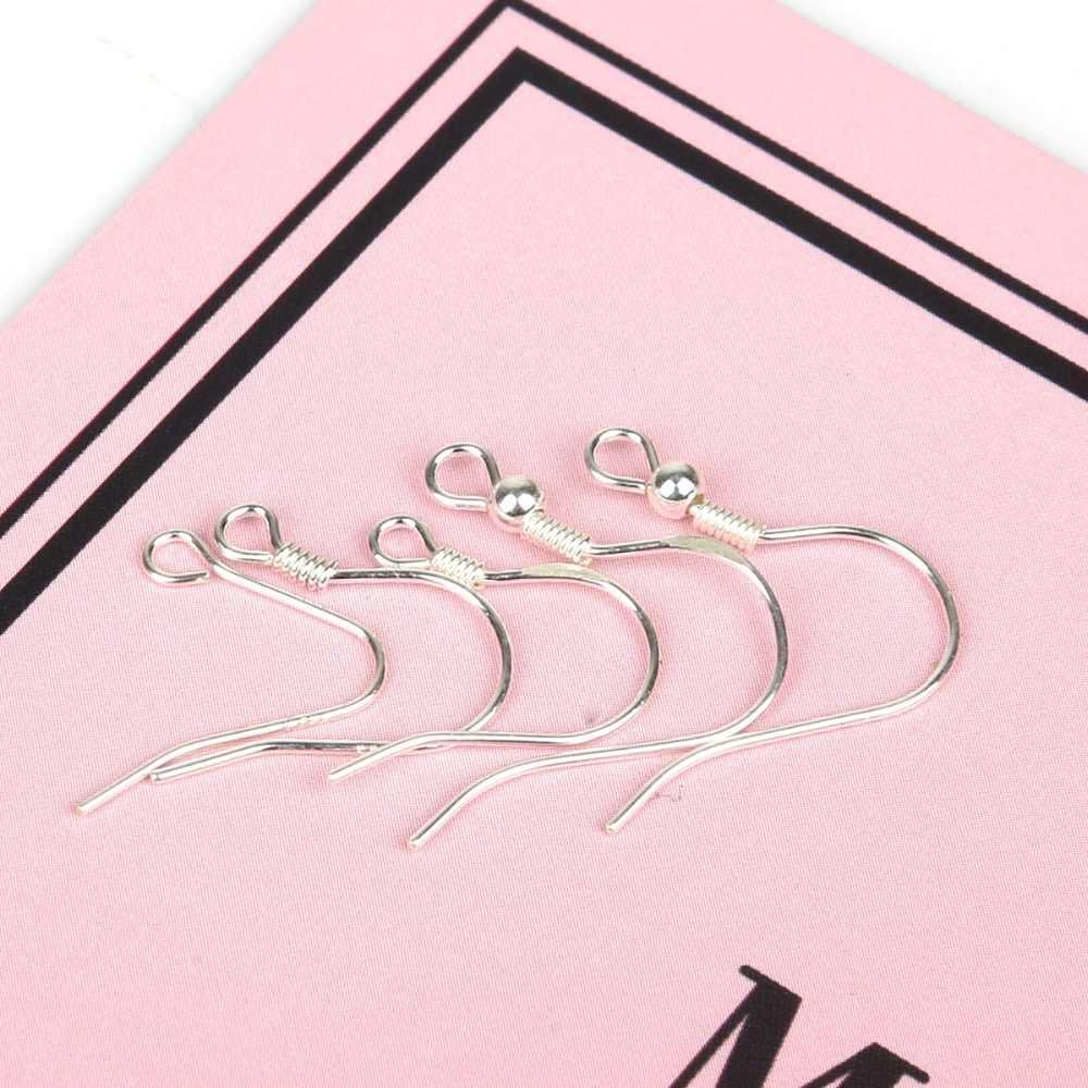 1 par de Plata de Ley 925 con bobina pendiente ganchos broche accesorios para la fabricación de la joyería DIY piezas venta al por mayor las conclusiones