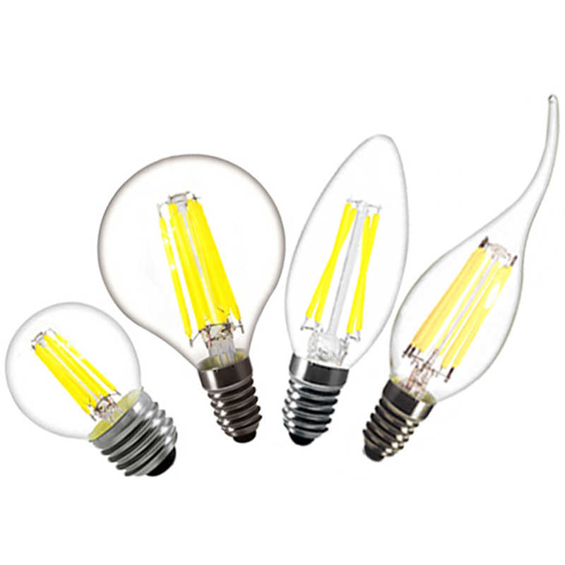led light bulb C35 e14 2w 4w 6w 8w Candle flame bulb e27 a60 g45 220v Edison Filament led lamp