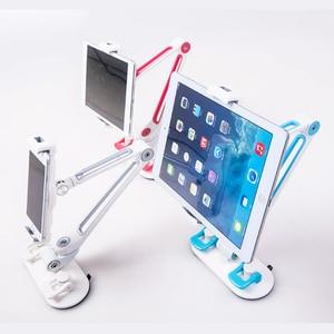 Image 5 - Универсальный автомобильный держатель для планшета, алюминиевый сплав, эргономичный, вращающийся на 360 градусов, двойная присоска, подставка для ленивых людей для iPad, iPhone