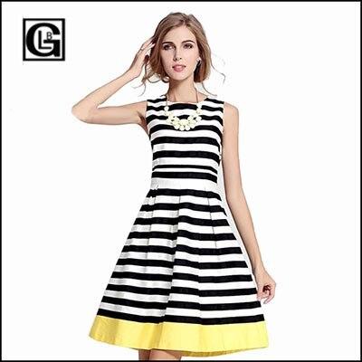 c61553907f4 Moda Donna 2015 China Fashion Clothes Women s Elegant Dress Vestidos  Juveniles Vestido De Punto O-Neckline Dress Striped Dress
