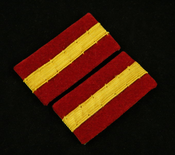 WWII IMPERIAL JAPANESE ARMY SOLDIER LEADER COLLAR TABS-35396