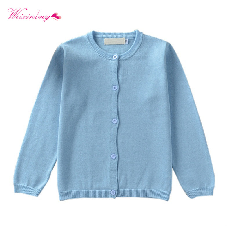 WEIXINBUY Baby Children Knitted Cardigan Sweater Boys Girls Candy Color Clothing Kids Spring Autumn Winter Outer Wear classic plaid pattern shirt collar long sleeves slimming colorful shirt for men