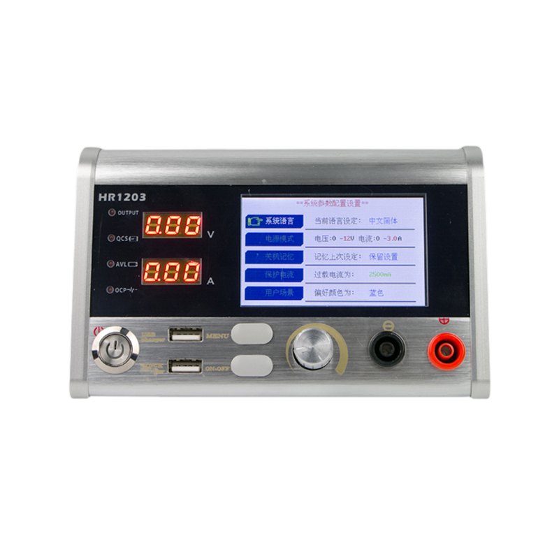 Repairs Intelligent Voltage Regulator DC power supply 12V 3A digital Analog waveform can display for Iphone