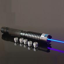 Best price 450nm 3000mw focusable blue laser flashlight  high power burning laser pointer light cigarette Free Shipping