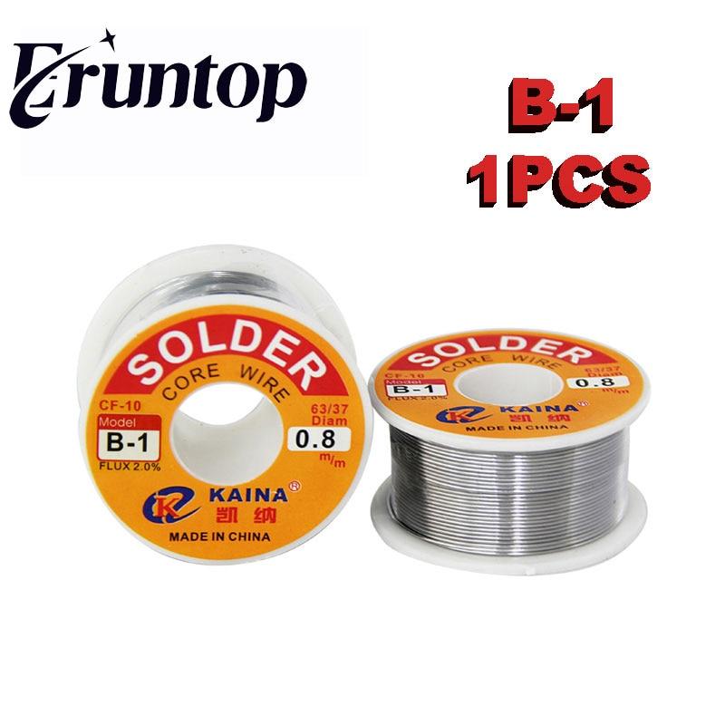 1PCS (B-1 ) Welding Iron Wire 100g/3.0oz FLUX 2.0% 0.5 0.6 0.8 1.0 1.2 1.5 2.0mm 63/37 45FT Tin Lead Line Rosin Core Flux Solder стоимость
