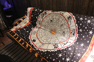 Image 3 - Tarot tischdecke aspekt astrologie Konstellation bord spiel matte, sofa abdeckung teppich OtsugeUranainandesu neuheit dekoration decke