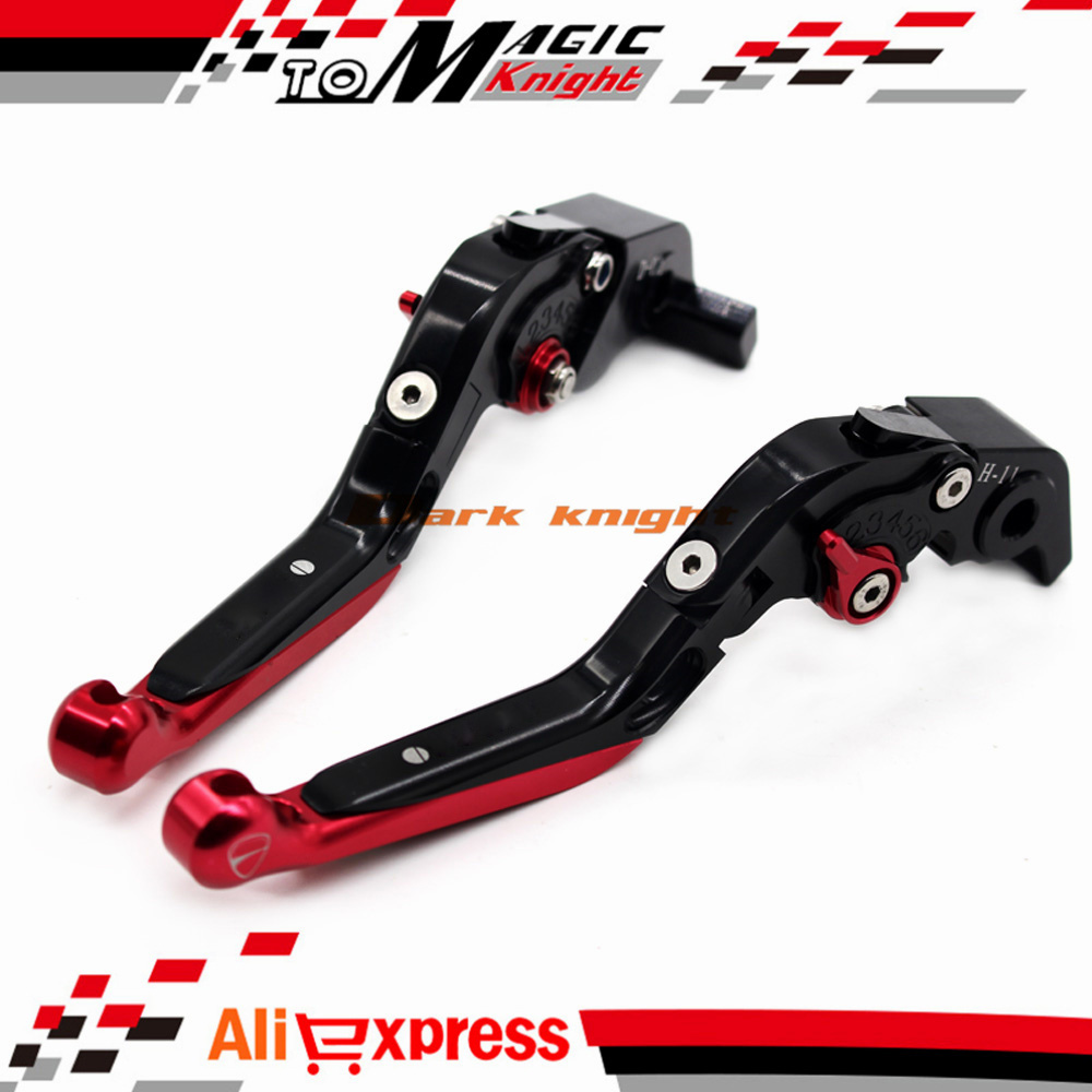 ФОТО For DUCATI HYPERMOTARD 1100/S/EVO SP 2007-2012 Motorcycle CNC Adjustable Folding Extendable Brake Clutch Levers Black+Red