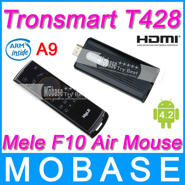 [Mele F10 Air Mouse] Tronsmart T428 Quad Core TV Box Android 4.2 Mini PC RK3188 Cortex-A9 1.8GHz 2G/8G Bluetooth HDMI WiFi