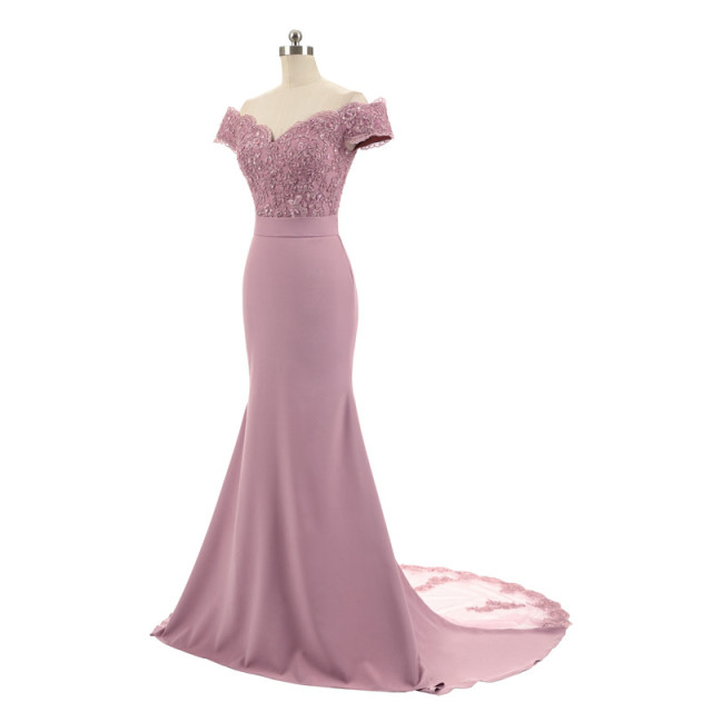 New Arrival Pink V Neck Cap Sleeve Vintage Lace Appliques Beaded Mermaid Bridesmaid Dresses Party Gowns Vestido De Festa 1