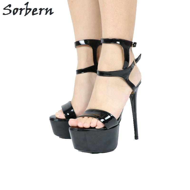 Sorbern High Heels Women Sandals Shoes Sandalias Mujer 2019 Summer Platform Sandals Buckle Strap Ladies Party Sandals Shoes