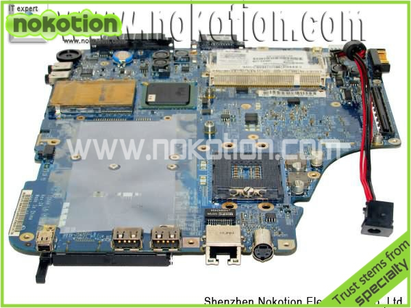 все цены на NOKOTION Mainborad LA-3481P for Toshiba A200 Laptop Motherboard DDR2 PM965 Full Tested онлайн
