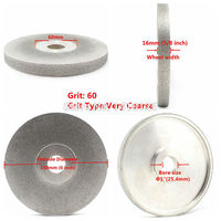 6 inch 60 180 Grit Diamond Face Grinding Wheel Facing Abrasive Disc Broadside ILOVETOOL
