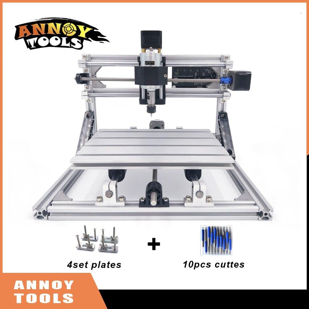 CNC 2418 diy CNC laser engraving machine 0.5W-5.5W laser, Pcb Milling Machine,Wood Carving machine,Engrave Stainless Steel Metal