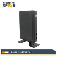 Billige Lüfterlose Linux Thin Client Mini PC Station X1 Dual Core 1,2G 512 Mt RAM 2G Flash Linux 3,0 RDP 7 HDMI Freies verschiffen