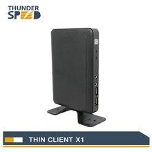 Cheap Fanless Linux Thin Client Mini PC Station X1 Dual Core 1.2G 512M RAM 2G Flash Linux 3.0 RDP 7 HDMI Free Shipping