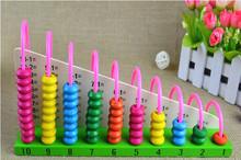 Calculate Shelf Wooden Educational Toys for Children Baby Early Learning Child abacus Fancy Arithmetic Maths Toy Brinquedos W015