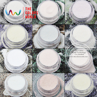 TCRT 002 Iridescent Rainbow White With Multiple Colors Hexagon Shape 0 1 MMsizes Glitter For Nail