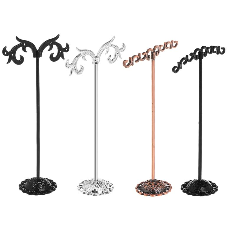 1 Set Jewelry Shelf Display Rack Stand Holder Earrings Ear Stud Metal Organizer Storage Vintage Exquisite Gifts Boutique Tree
