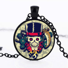 New 2017 Steampunk Skull Gear Pendant Necklace Jewelry Fashion Accessories for Women Men Cabochon Choker Neckless Women Gift