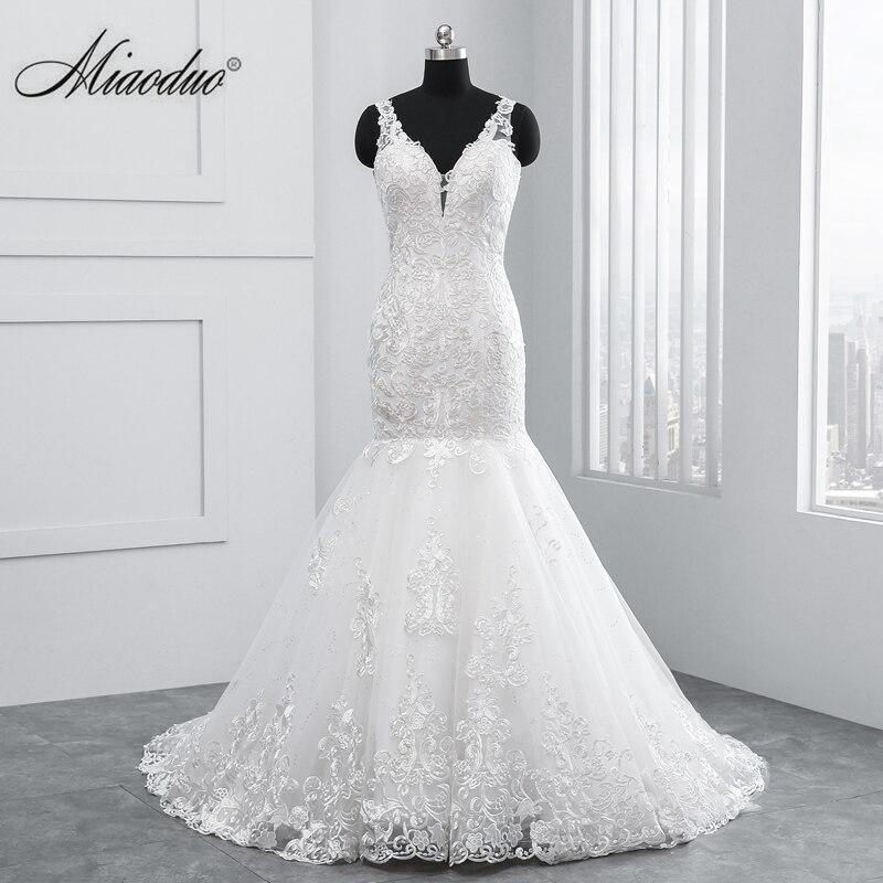 vestidos de novia 2019 Mermaid V Neck Sleeveless Backless Wedding Dresses abito da sposa suknia slubna