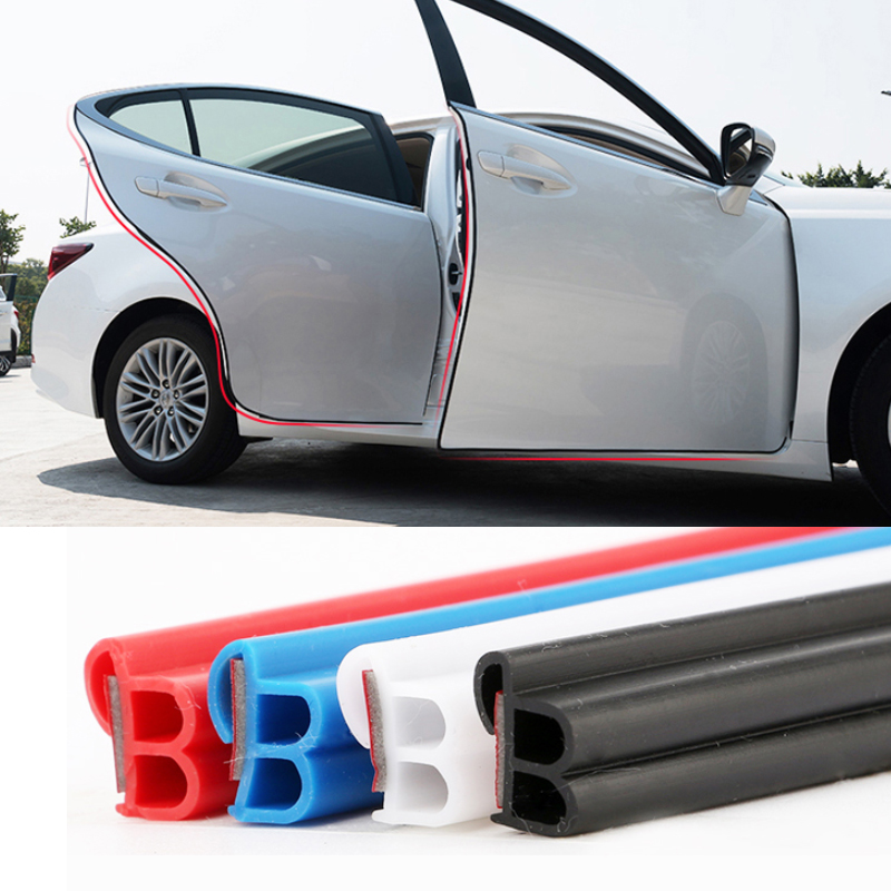 5M/lot Car Door Edge Scratch Protector Strips Auto Sticker Protector Seal Door Mouldings Universal Interior Part Car Accessories