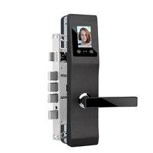 Keyless inteligente de bloqueio palmprint rosto reconhecimento facial fechadura da porta para casa controle acesso bloqueio escritório segurança