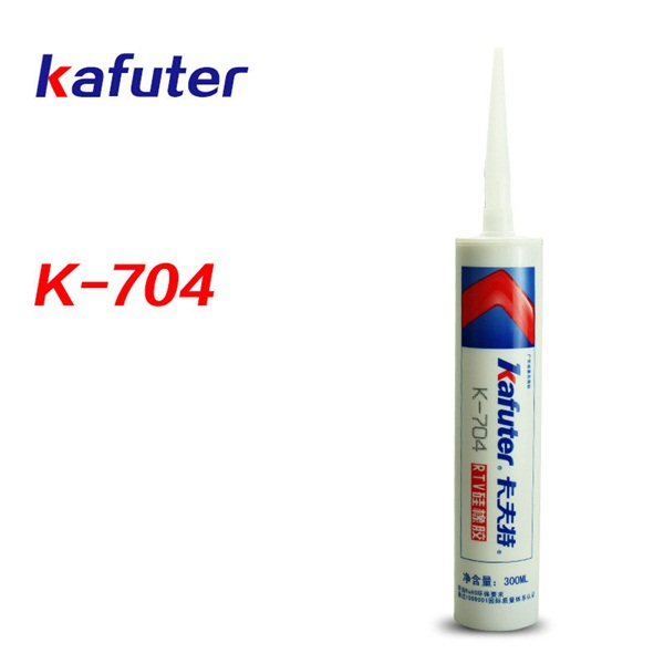 Kafuter 300ml K-704 silicone sealant electronic special glue one-component room temperature curing silicone rubber white цены онлайн