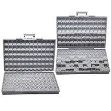 AideTek 2 единицы резистора конденсатора электроники SMD хранения ящики и организовать 0603 0402 0805 1206 пластмассы ящик для инструментов 2 коробки