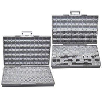 AideTek 2 единицы SMD резисторный конденсатор электроники Чехлы для хранения и организовать 0603 0402 0805 1206 пластиковая коробка lable BOXALL