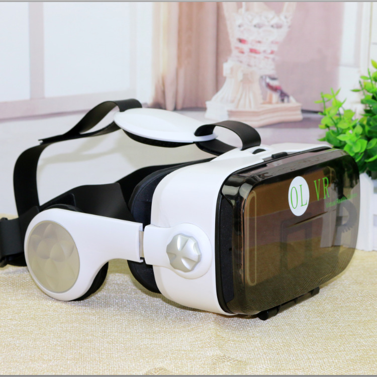 NEW 3D Glasses Google OL VR Virtual Reality Headset Earphone Bluetooth Controller for 4 0 6