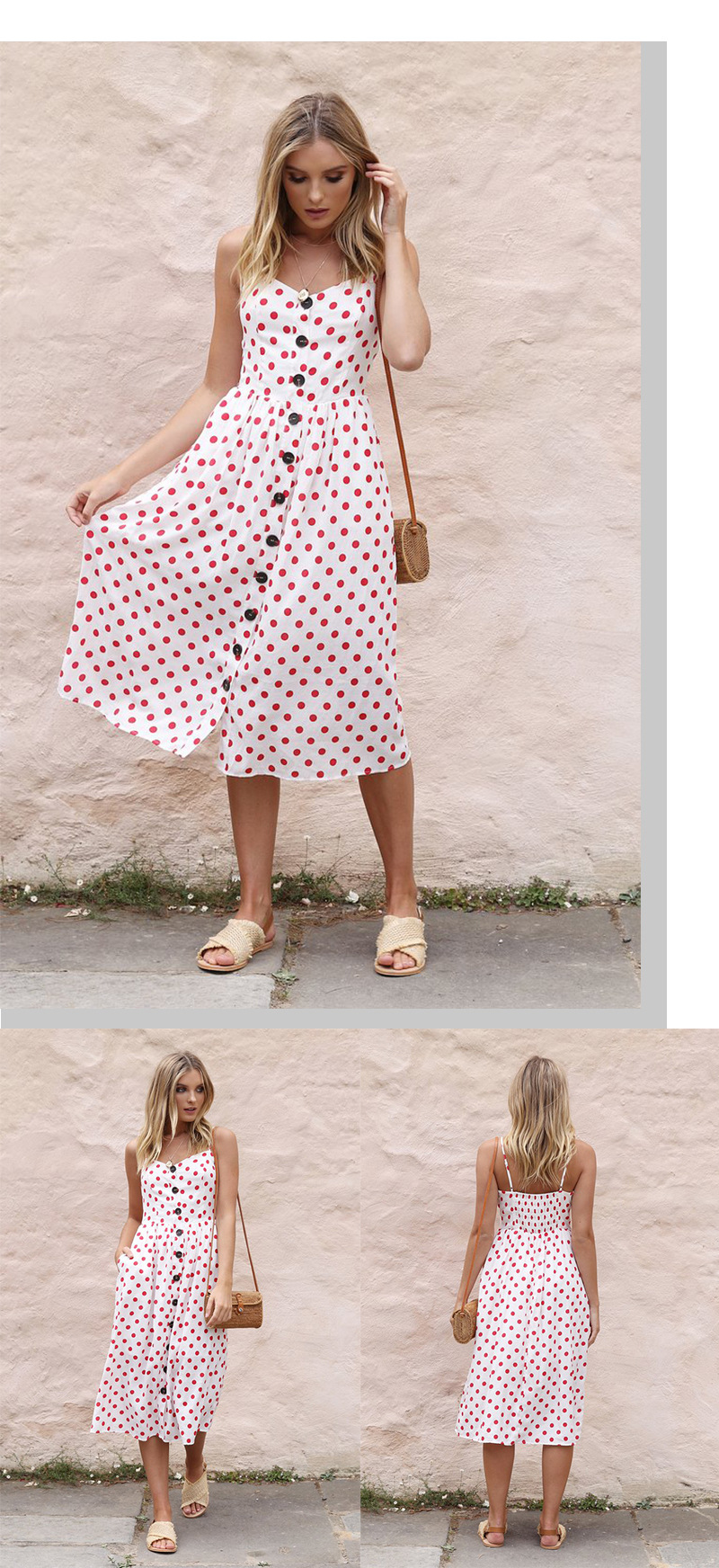 Button Striped Print Cotton Linen Casual Summer Dress 19 Sexy Spaghetti Strap V-neck Off Shoulder Women Midi Dress Vestidos 11