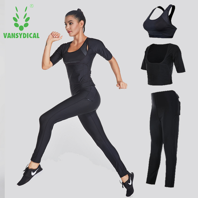 a9442e09e30b Brand 2018 Sport Suits Women s Fitness Yoga Set Running Sportswear Tights  Training Jogging Suit Gym Sports Clothes Set 3 pcs