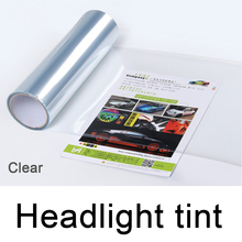 0.3*10m(1*33ft) PVC removable clear headlight tint roll transparent Taillight for car head decoration DHL free shipping