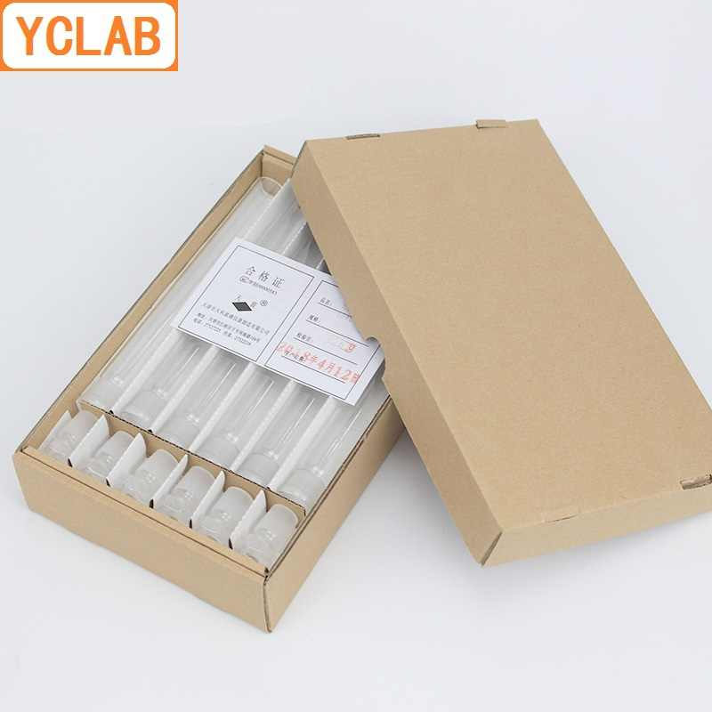 YCLAB 10 ミリリットルガラス比色管とストッパー Nessler メガネラボ化学機器