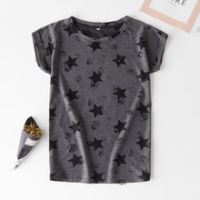 2019 new casual short-sleeved shirt shabby printed five-pointed star fruit cartoon women's T-shirt(China)