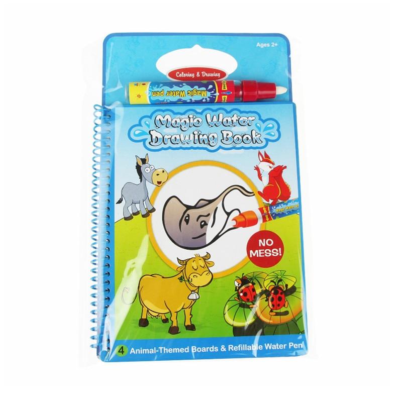 425 5 De Descuentolibro De Dibujo De Agua Mágico Con 1 Pluma Mágica Para Colorear Libros Para Niños Letras De Animales Tablero De Pintura De Agua
