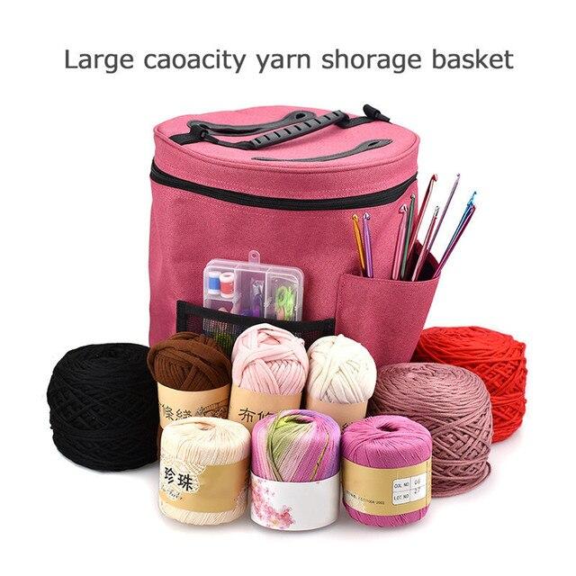 Yarn Storage Bag Organizer with Divider for Crocheting u0026 Knitting Organization. Portable Yarn Holder Tote  sc 1 st  AliExpress.com & Yarn Storage Bag Organizer with Divider for Crocheting u0026 Knitting ...