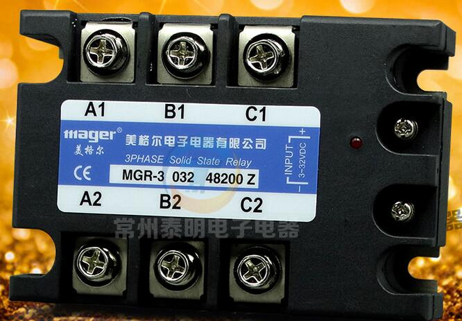 380V200A Three-phase solid-state relay Megal DC-controlled AC MGSSR MGR-3 032 48200Z genuine three phase solid state relay mgr 3 032 3880z dc ac dc control ac 80a