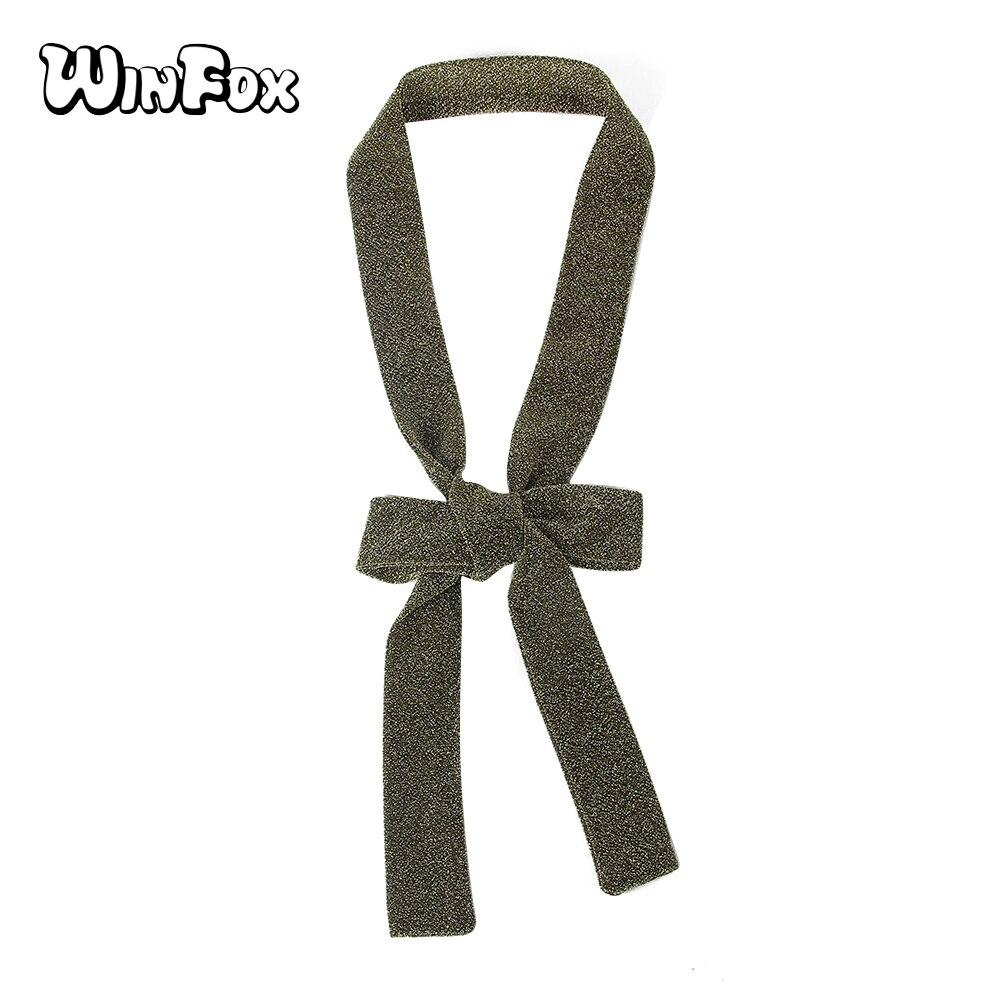 Winfox Fashion 5*190cm Black Grey Long Neckerchief Smooth Wrist Headband Lady Neck Head Thin Ribbon Skinny   Scarf     Wrap   For Women