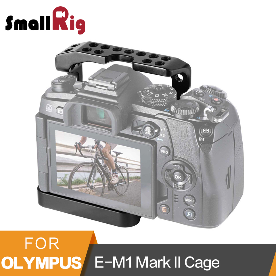 SmallRig Cage for Olympus E-M1 Mark II Camera Protective Cage Video Shooting Stabilization Support Rig Half Cage - 2086 meike dslr camera built in 2 4g battery grip for canon eos 7d mark ii as bg e16
