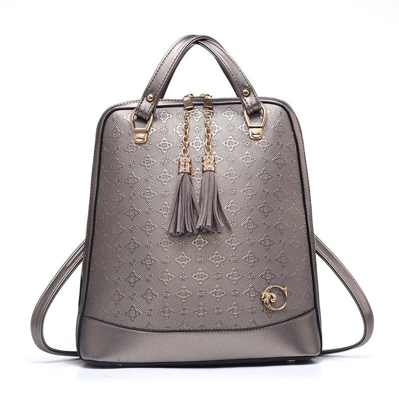 цена на Women's Backpack Bags for Women 2018 High Quality PU Leather Backpack Women Fashion Designer Luxury Backpacks Women Bag Designer